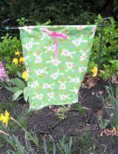 Crafting an Easter Garden Flag for Less Than $3