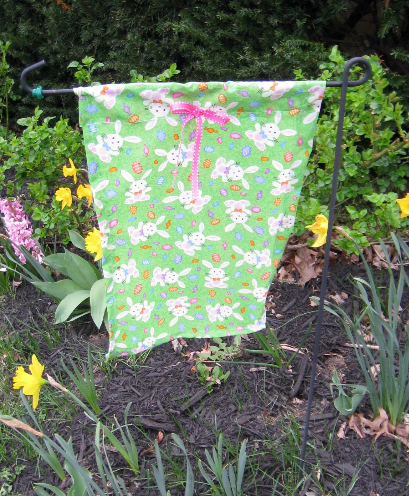 An Easter Garden Flag Craft