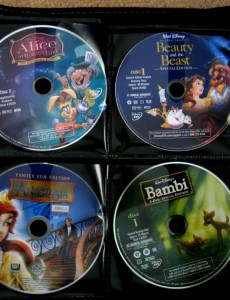 Kids DVDS – Organized!