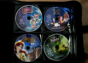 DVDs in binder
