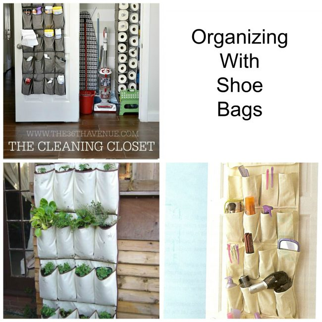 smart ways to organize with shoe bags