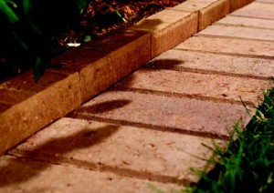 red brick edging