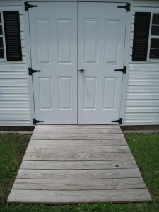 ramp to outdoor storage shed