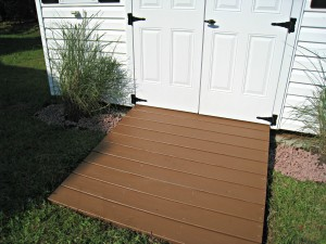 ramp, stain, shed