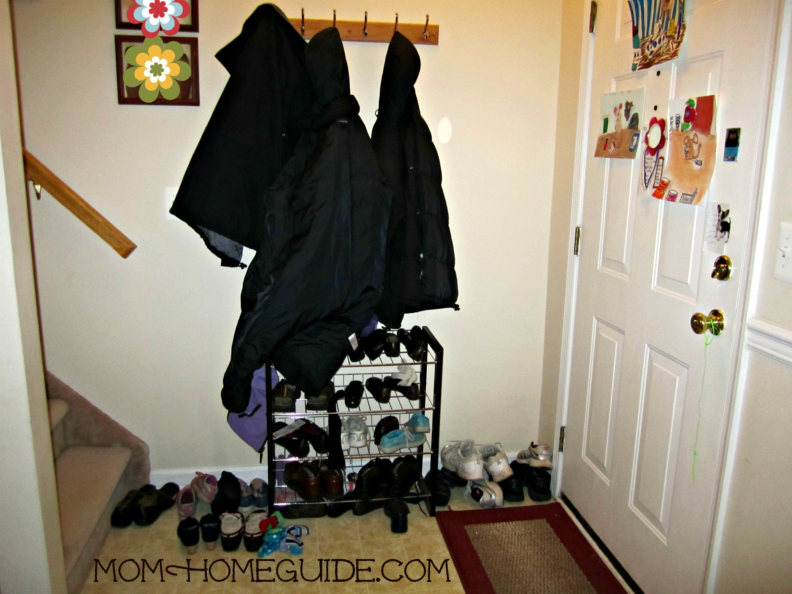 Front Foyer Storage Ideas : Updated entry hall momhomeguide