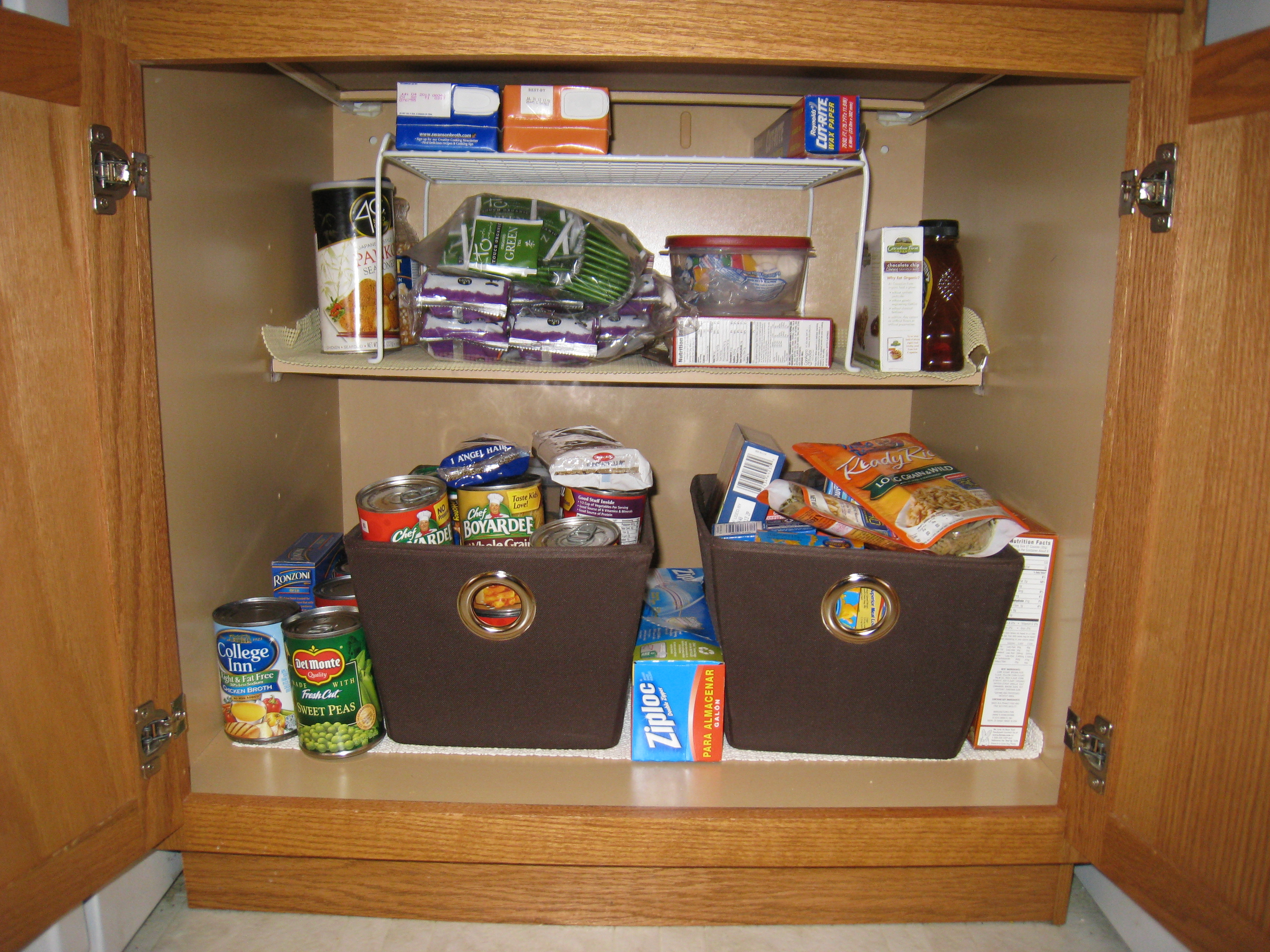 Pantry, Organize, Cloth Bins, Storage