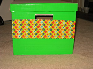 duck tape, storage box