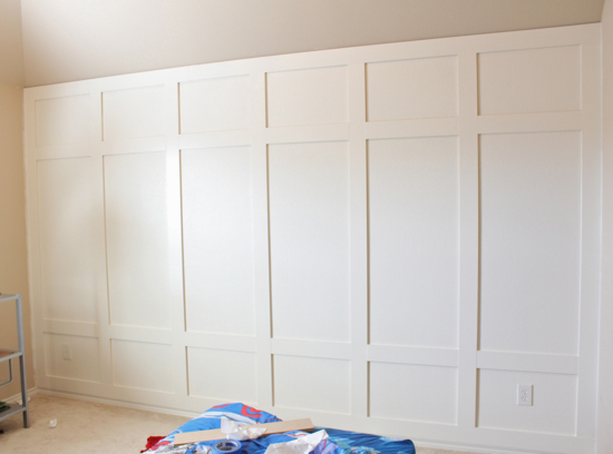 decor chick, how to, paneled wall