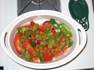 pampered chef, microwave, chicken, fajita, recipe