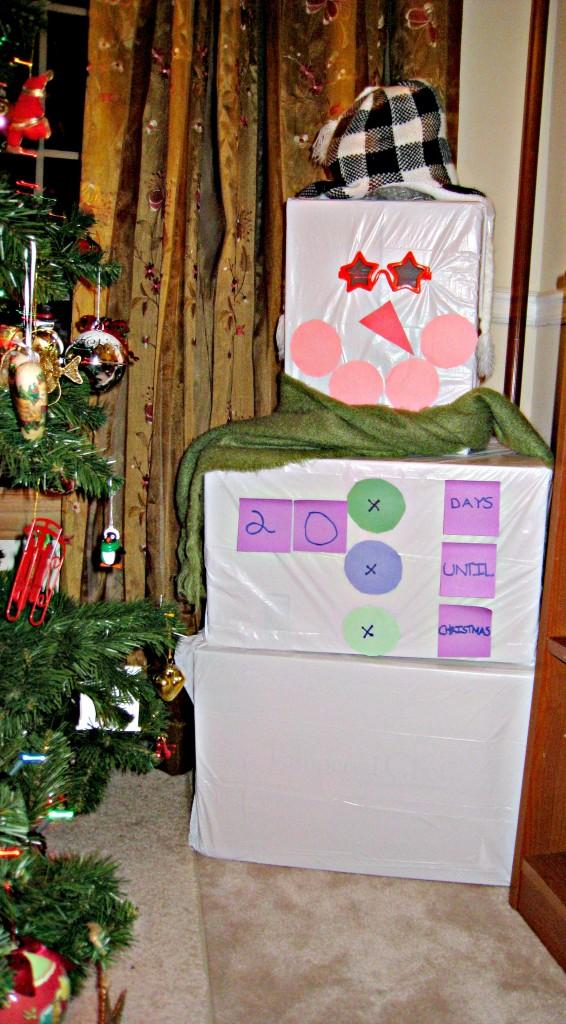 snowman, advent, calendar
