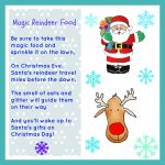 free Christmas printable, reindeer food, santa