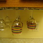 Kitchen Wine Glass Organization