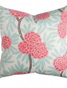 Mint Fleur Chinoise Pillow, Caitlin Wilson Textiles