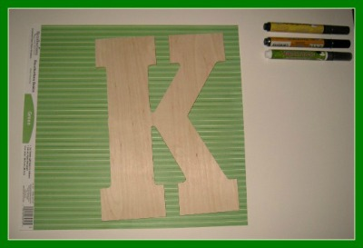 craft, wood, letter, Mod Podge