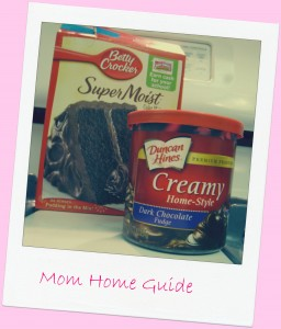 molten lava cake, cake mix, icing