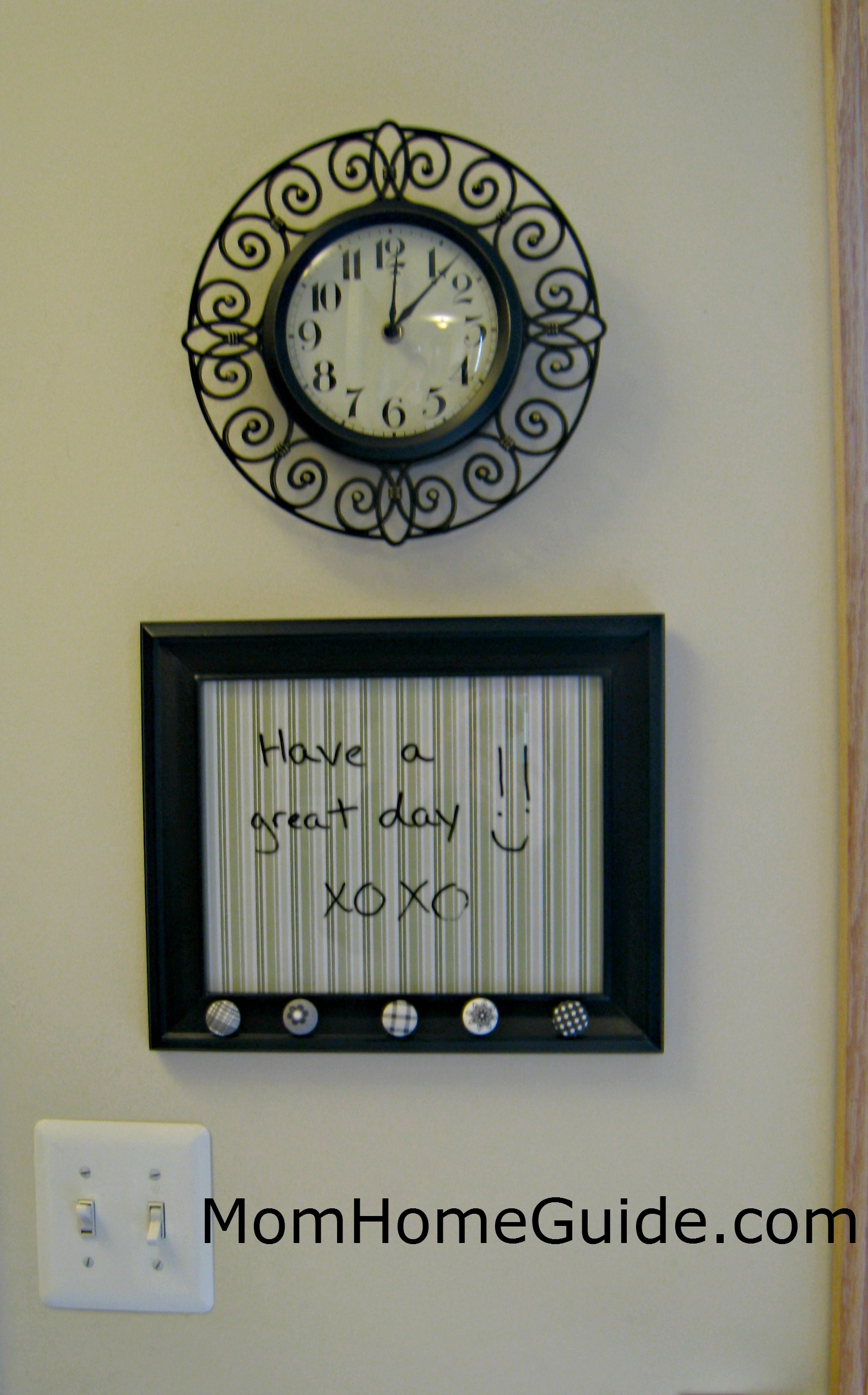 Picture Frame Dry Erase Board - momhomeguide.com