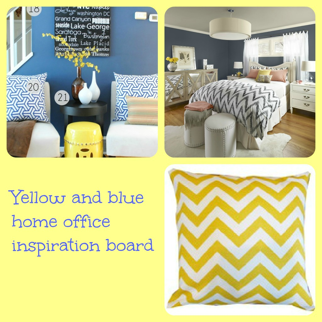 Inspiration Board Picmonkey Yellow Blue Home Office