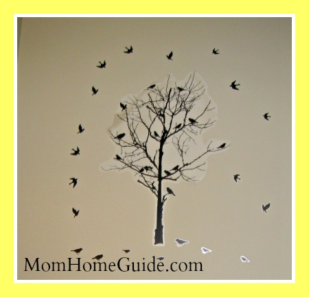 tree, birds, wall decal