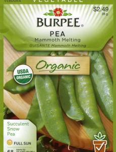 burpee, organic, pea, seeds