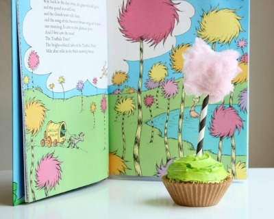 lorax, cupcake, recipe, dr. seuss
