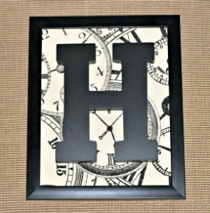 framed, monogram, letter