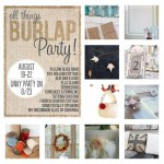 burlap linky party