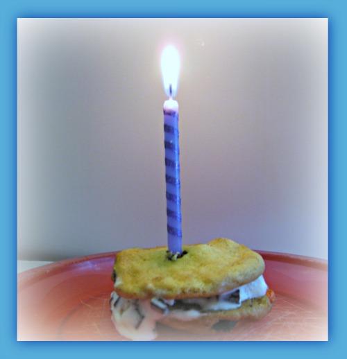 chipwich, birthday, ice cream, cookie, sandwich