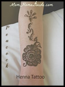 henna, peacock, tattoo