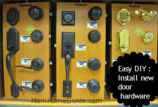 diy install door hardware lock