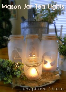 mason jar, tea, light, craft