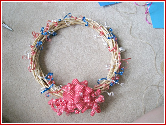 patriotic, fourth of july, wreath