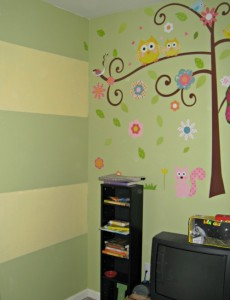 Striped Chalkboard Paint Wall