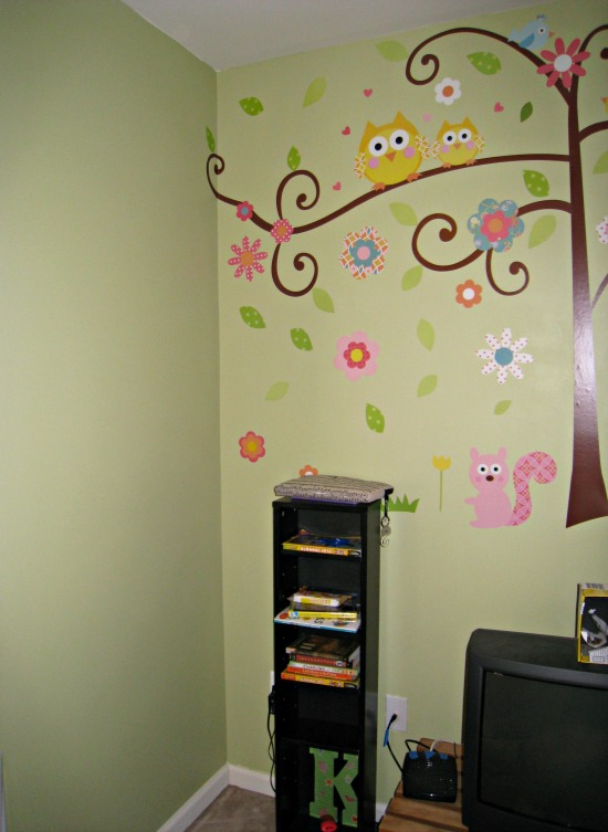 hall, wall, mural, kids, tree, owl