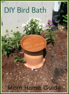 DIY, bird bath, how to, clay, pot