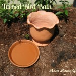 clay, pot, saucer, DIY, bird bath