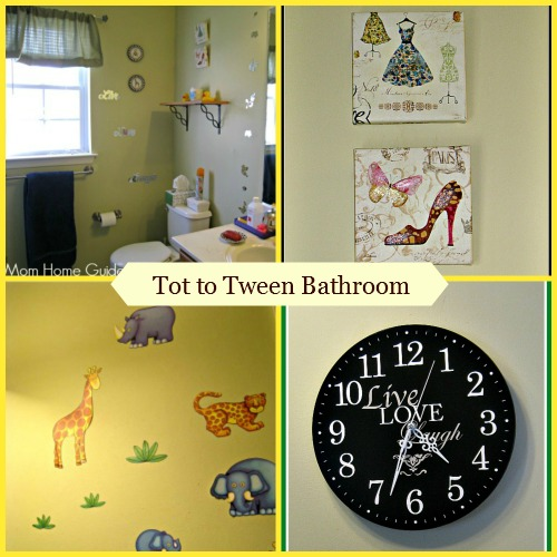 tot, toddler, tween, bathroom, girls, decor