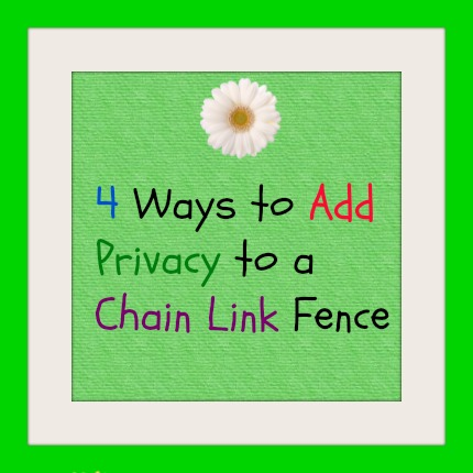 Image Result For Chain Link Fence Slats