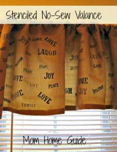 Hand-Stenciled Valance