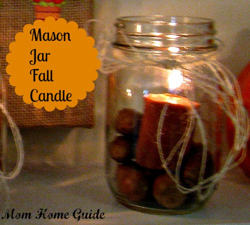 fall mason jar candle