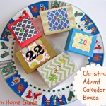 Christmas advent calendar boxes, plate