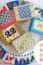 craft, Christmas advent calendar boxes, plate