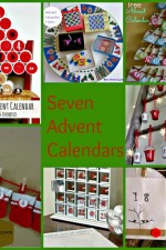 seven, advent, calendar, craft
