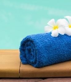 spa, towel, flowers, pool