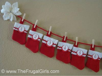 Christmas, stocking, advent, calendar