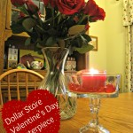 dollar store, candle holder, valentine's day, centerpiece