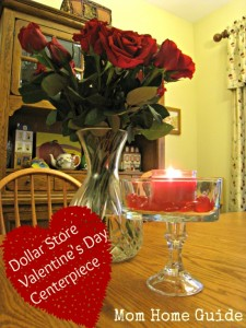 dollar store, candle holder, valentine's day, centerpiece