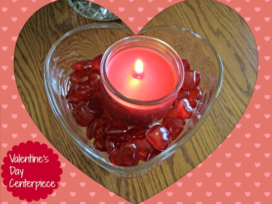 dollar store, centerpiece, valentine's day, candle