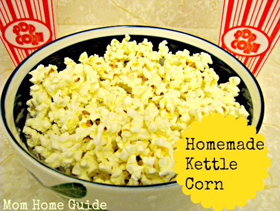 kettle corn, recipe, homemade