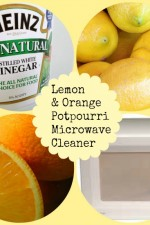 all natural, microwave, vinegar, lemon, orange cleaner