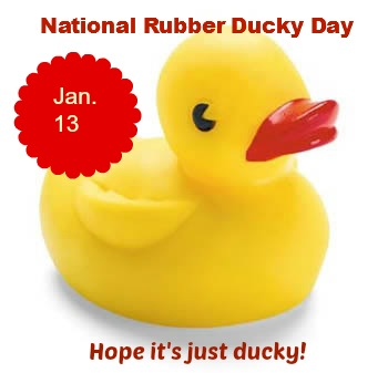 january, 13, national, rubber ducky, day